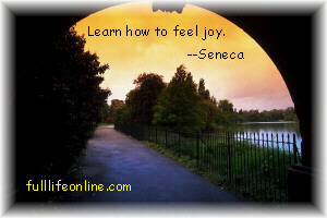 """Learn how to feel joy."" - Seneca"