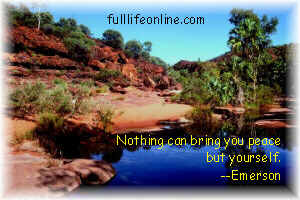 """Nothing can bring you peace but yourself "" - Emerson"